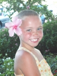 Ashtyn Fritz- 9 year old daughter of Melanie Klouse-Fritz who battled Leukemia for 26 months. She is now one year off tr